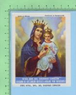 Mexico 2021 ( Ntra. Sra. Del Sacrado Corazon ) Santino Santini Holy Card Image Pieuse - Images Religieuses