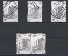 QQ--239-.  CHEMIN De FER , N° 399, PAPIER BLANC, TERNE & POLYVALENT + 1 VARIETE , OBL.COTE 12.00 €, ( VOIR C.O.B. ) - 1952-....