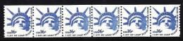 U.S. 1619X6  Line Pair +  **  STATUE Of LIBERTY - Coils & Coil Singles
