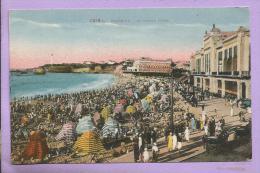 Dépt 64 - BIARRITZ - La Grande Plage - Très Animée  - Colorisée - Biarritz