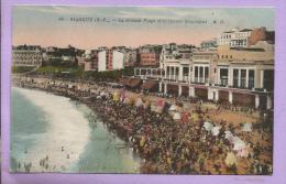 Dépt 64 - BIARRITZ - La Grande Plage  Et Le Casino Municipal - Très Animée  - Colorisée - Biarritz