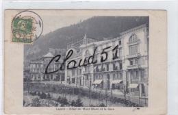 Suisse-LEYSIN  -Hôtel Du Mont Blanc Et La Gare(à Noter 2 Petites Pliures) - VD Waadt