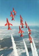 Aircraft Postcard Red Arrows Aerobatic Team Hawk Trainer RAF CFS Leeming - 1946-....: Moderne