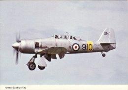 Aircraft Postcard Fleet Air Arm Hawker Sea Fury T20 WG655 - 1946-....: Moderne