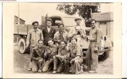 Photographie Equipe Des Bretons 1946 Condet Condit Candet Candé ? Bretagne A Localiser - Métiers