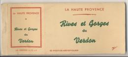 04 - La Haute Provence               Rives Et Gorges Du Verdon    (Carnet 10 Photos)) - France