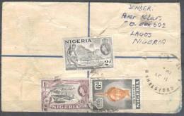 Britische Kolonie - Südafrika Nigeria - R - Brief  1953 / Lagos Nach Offenburg (Germany) / Siehe Fotos - Nigeria (...-1960)