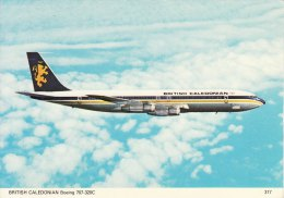 Aircraft Postcard British Caledonian Airways Boeing 707-320C 707 Jet Airliner - 1946-....: Moderne