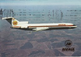 Aircraft Postcard Iberia Airlines Boeing 727-256 727 Jet Airliner Spain Spanish - 1946-....: Moderne