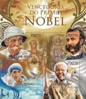 Gb12519a Guinea Bissau 2012 Nobel Prize Winners S/s Pigeon Mother Teresa Schweitzer Albert Mandela - Albert Schweitzer