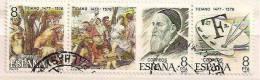 """Spain Edifil # 2466-2468 (o) Tiziano Vecelio (1477-1576) Y """"La Bacanal"""", Museo Del Pardo, Madrid - 1931-Hoy: 2ª República - ... Juan Carlos I"""