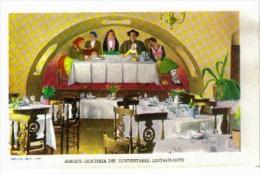 CPSM - BURGOS - HOSTERIA DEL CONDESTABLE - RESTAURANT (carte Illustrée) - Frescos De Delhy Tejero - Burgos