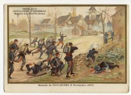 Bataille De COULMIERS ( 9 Novembre 1870 ). Chromo Avec Explication Au Verso - Historical Documents
