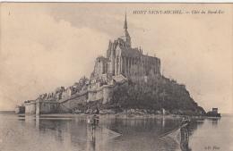 Mont Saint Michel Coté Du Nord Est Pécheurs De Crevettes Animée - Le Mont Saint Michel
