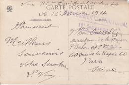 REGIMENT TERRITORIAL 115ème - 10ème Compagnies - Cachet Linéaire - CP Vosges Ferme Sous La Neige - 14 Février 1914 - Marcophilie (Lettres)