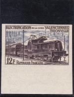 TIMBRE FRANCE NON DENTELES N°1024a Electrification De La Ligne Valenciennes-thionville - Train - NEUF SANS CHARNIERES - Francia