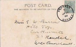 POSTAL HISTORY - 1902 SKELETON CANCELLATION - SWANAGE, DORSET - Postmark Collection