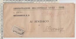 Timbro Rosso Ema Ospedale Civile Udine  27/12/1945  Al Sindaco  Moruzzo  Udine - 1944-46 Lieutenance & Humbert II