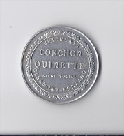 Publicité : Petite Glace ( Miroir )  Publicitaire Vêtement CONCHON QUINETTE Clermont Ferrand 63 Puy De Dome - Publicité
