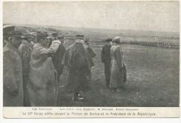 Prince Alexandre With French Generals Balfourier, Joffre, Humbert WWI Serbian Allied - Serbie