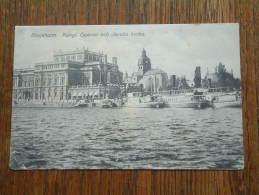 Stockholm. KUNGL. Operan Och Jacobs Kyrka - Anno 1916 ( Zie Foto Voor Details ) !! - Suède