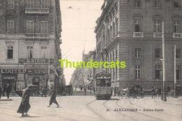 CPA EGYPT ALEXANDRIE SISTERS STREET TRAM - Alexandrie