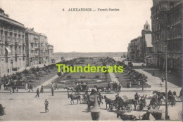 CPA EGYPT ALEXANDRIE  FRENCH GARDEN - Alexandrie