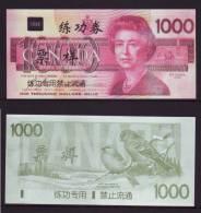 (Replica)China BOC Bank Training/test Banknote,Canada Dollars B-2 Series $1000 Note Specimen Overprint - Canada