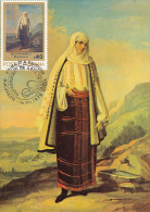 GH TATTARESCU- MOUNTAIN WOMAN, PAINTING, CM, MAXICARD, CARTES MAXIMUM, OBLIT FDC, 1979, ROMANIA - Arts