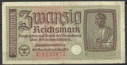 Deutschland Occupation Bank Note 20 Reichsmark Serie E - [ 9] Territoires Allemands Occupés