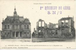 """Griffe FM""""1°régiment Du Génie / S.N/2 Surcpa Revigny (Meuse) Non Circulé - Guerra De 1914-18"""