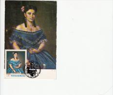 MISU POPP- GIRL PORTRAIT PAINTING, CM, MAXICARD, CARTES MAXIMUM, 1990, ROMANIA - Art