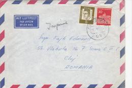 BRANDERBURG GATE, ALBERTUS MAGNUS, STAMPS ON AIRMAIL COVER, 1969, GERMANY - [6] Oost-Duitsland