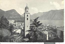 SVI337 - Lugano - Cattedrale Di San Lorenzo E Monte Brè - Annullo Targhetta CAMPIONATI MONDIALI CALCIO 1954 - TI Tessin
