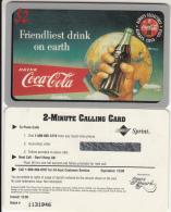 USA - Coca Cola, Sprint Promotion Prepaid Card, Exp.date 12/96, Mint - Sprint