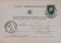00704 Enteropostal Liege A Dresden 1879 - Timbres