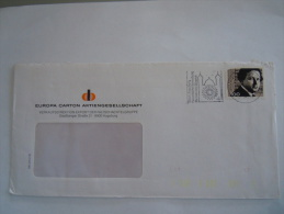 Duitsland Allemagne Brief Lettre 1992 Augsburg Componist Arthur Honegger - Storia Postale