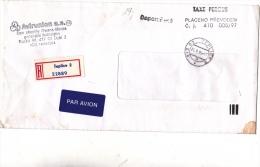 AIR MAIL COVER,REGISTERED COVER,BLACK METER MARK,1997,CZECH REPUBLIC - Tchéquie