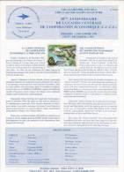 Circulaire Philatélique N° 91- 11 Office Des Postes Et Tel De La Polynésie Francaise  1 Timbre Caisse De Coopération  éc - Polynésie Française