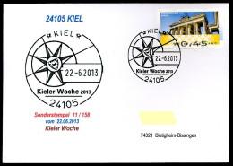 91667) BRD - Karte SoST 11/158 In 24105 KIEL Am 22.6.2013 - Kieler Woche 2013 - [7] West-Duitsland