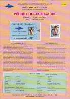 Circulaire Philatélique N° 93-02 Office Des Postes POLYNESIE FRANCAISE 1 Timbre PECHE COULEUR LAGON - Polynésie Française