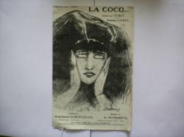 LA COCO....CHANTEE PAR TURCY ET PAR EMMA LIEBEL - Partitions Musicales Anciennes