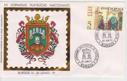 """ESPAÑA   FDC Sobre De Primer Día De Circulación  """"BURGOS 15-24 JUNIO - 79""""  S-1042 - FDC"""