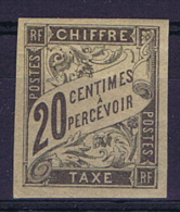 Colonies Franc. General: Yv Timbre Tax 8 Mh/* - Postage Due