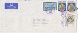1972  Air Mail COVER COSTA RICA Stamps To GB - Costa Rica