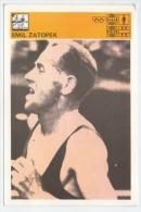 Svijet Sporta Cards - Emil Zatopek    203 - Athlétisme