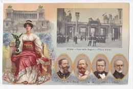 CARTOLINA ESPOSIZIONE 1911 ILLUSTRATORE SIMONETTI 50° ITALIA UNITA  Garibaldi Original Postcard Cpa Ak (W3_2000e) - Exposiciones