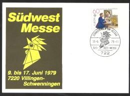 Deutschland BRD Sonderstempel Sonderkarte 1979 Südwest Messe Südwestmesse 18.6.79 722 Villingen-Schwenningen Auf Mi 1012 - Marcophilie - EMA (Empreintes Machines)