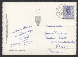 DF / LUXEMBOURG SUR CARTE-POSTALE / TP 583 GRANDE-DUCHESSE CHARLOTTE / OBL. CLERVAUX 10.9.63 - 1960 Charlotte, Diadem