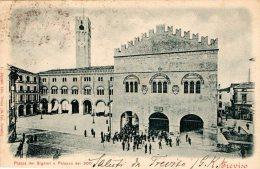 [DC8183] TREVISO - PIAZZA DEI SIGNORI E PALAZZO DEI 300 - Viaggiata Primi '900- Old Postcard - Treviso
